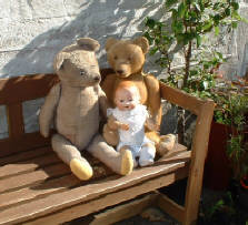 1910 teddys and AM doll